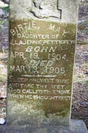 PETTIGREW, BIRTIE MAY - Sevier County, Arkansas | BIRTIE MAY PETTIGREW - Arkansas Gravestone Photos