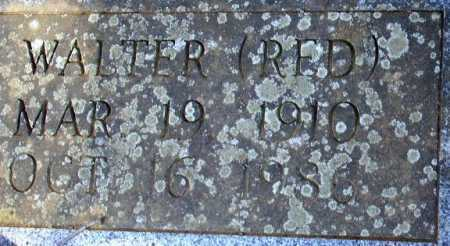 "PETTIGREW, WALTER ""RED"" (CLOSEUP) - Sevier County, Arkansas 