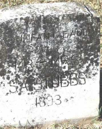STUBBS, INFANT DAUGHTER - Sevier County, Arkansas   INFANT DAUGHTER STUBBS - Arkansas Gravestone Photos