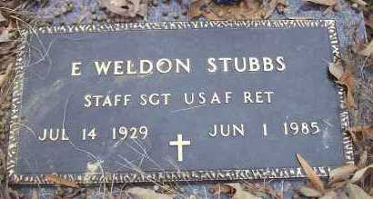 STUBBS (VETERAN), E WELDON - Sevier County, Arkansas | E WELDON STUBBS (VETERAN) - Arkansas Gravestone Photos