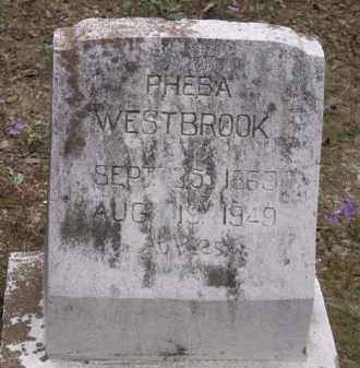 LIGON WESTBROOK, PHEBA - Sevier County, Arkansas | PHEBA LIGON WESTBROOK - Arkansas Gravestone Photos