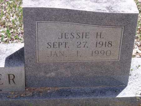 WESTER, JESSIE H (CLOSEUP) - Sevier County, Arkansas | JESSIE H (CLOSEUP) WESTER - Arkansas Gravestone Photos