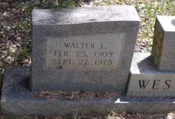 WESTER, WALTER LEVI (CLOSEUP) - Sevier County, Arkansas | WALTER LEVI (CLOSEUP) WESTER - Arkansas Gravestone Photos