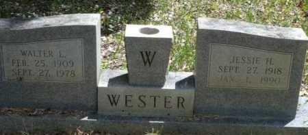 WESTER, WALTER L - Sevier County, Arkansas | WALTER L WESTER - Arkansas Gravestone Photos