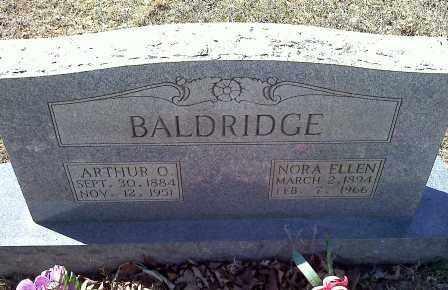 BALDRIDGE, NORA ELLEN - Sharp County, Arkansas   NORA ELLEN BALDRIDGE - Arkansas Gravestone Photos