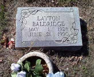 BALDRIDGE, LAYTON - Sharp County, Arkansas | LAYTON BALDRIDGE - Arkansas Gravestone Photos
