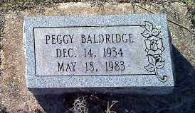 BALDRIDGE, PEGGY - Sharp County, Arkansas | PEGGY BALDRIDGE - Arkansas Gravestone Photos