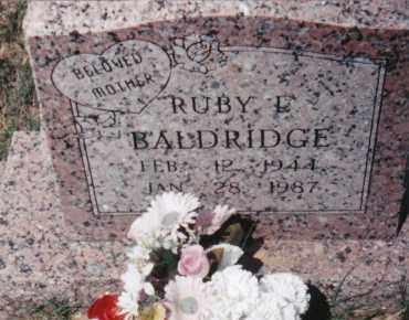 BALDRIDGE, RUBY L. - Sharp County, Arkansas | RUBY L. BALDRIDGE - Arkansas Gravestone Photos