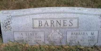 BARNES, A ELMER - Sharp County, Arkansas | A ELMER BARNES - Arkansas Gravestone Photos