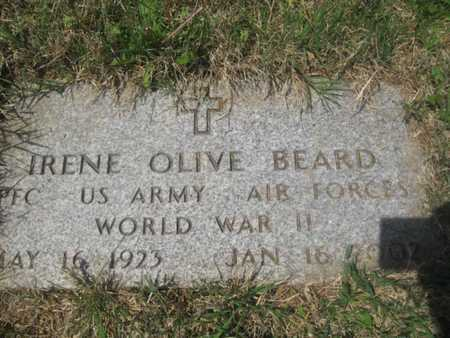 BEARD (VETERAN WWII), IRENE OLIVE - Sharp County, Arkansas   IRENE OLIVE BEARD (VETERAN WWII) - Arkansas Gravestone Photos