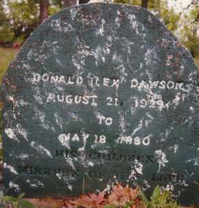 DAWSON, DONALD REX - Sharp County, Arkansas | DONALD REX DAWSON - Arkansas Gravestone Photos