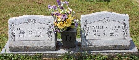 DEFOE, HOLLIS HARDING - Sharp County, Arkansas | HOLLIS HARDING DEFOE - Arkansas Gravestone Photos