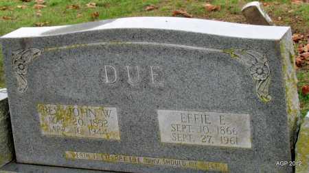 BODENHAMER DUE, EFFIE E - Sharp County, Arkansas | EFFIE E BODENHAMER DUE - Arkansas Gravestone Photos
