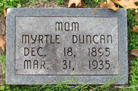 DUNCAN, MYRTLE - Sharp County, Arkansas | MYRTLE DUNCAN - Arkansas Gravestone Photos