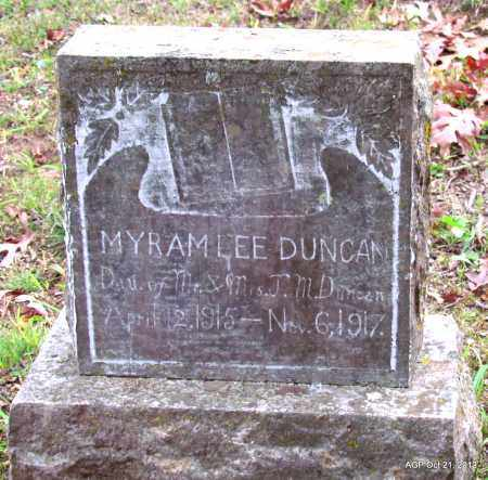 DUNCAN, MYRAM LEE - Sharp County, Arkansas | MYRAM LEE DUNCAN - Arkansas Gravestone Photos