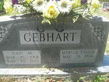TAYLOR GEBHART, MYRTLE - Sharp County, Arkansas | MYRTLE TAYLOR GEBHART - Arkansas Gravestone Photos