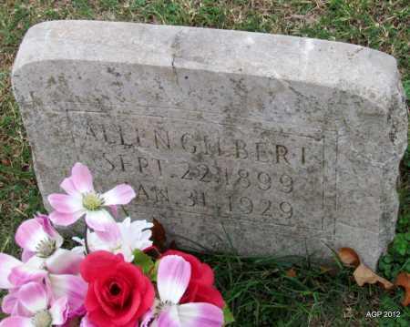 GILBERT, ALLEN - Sharp County, Arkansas | ALLEN GILBERT - Arkansas Gravestone Photos