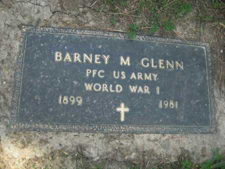 GLENN (VETERAN WWI), BARNEY M - Sharp County, Arkansas | BARNEY M GLENN (VETERAN WWI) - Arkansas Gravestone Photos