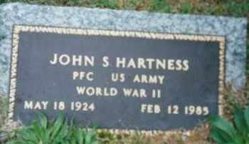 HARTNESS (VETERAN WWII), JOHN S - Sharp County, Arkansas | JOHN S HARTNESS (VETERAN WWII) - Arkansas Gravestone Photos