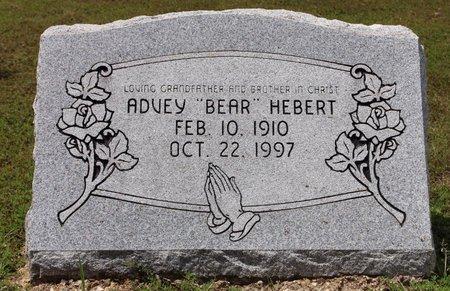 "HEBERT, ADVEY ""BEAR"" - Sharp County, Arkansas | ADVEY ""BEAR"" HEBERT - Arkansas Gravestone Photos"