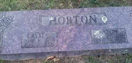 HORTON, EMMA CRYSTAL - Sharp County, Arkansas | EMMA CRYSTAL HORTON - Arkansas Gravestone Photos