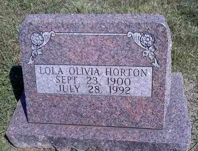 HORTON, LOLA OLIVIA - Sharp County, Arkansas | LOLA OLIVIA HORTON - Arkansas Gravestone Photos