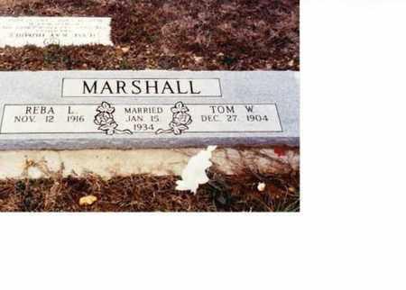 MARSHALL, TOM W - Sharp County, Arkansas   TOM W MARSHALL - Arkansas Gravestone Photos