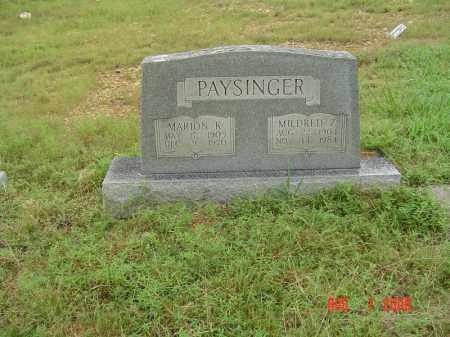 BLAGG PAYSINGER, MILDRED Z - Sharp County, Arkansas | MILDRED Z BLAGG PAYSINGER - Arkansas Gravestone Photos