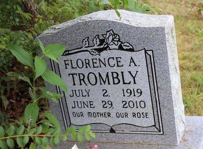 TROMBLY, FLORENCE A. RAUCH - Sharp County, Arkansas | FLORENCE A. RAUCH TROMBLY - Arkansas Gravestone Photos