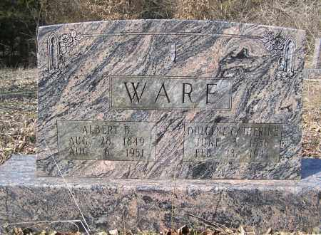 WARE, ALBERT BURGNER - Sharp County, Arkansas | ALBERT BURGNER WARE - Arkansas Gravestone Photos