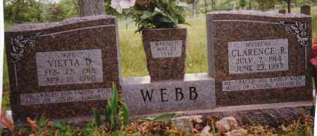 WEBB, CLARENCE R. - Sharp County, Arkansas | CLARENCE R. WEBB - Arkansas Gravestone Photos