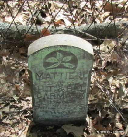 CARMACK, MATTIE J - St. Francis County, Arkansas | MATTIE J CARMACK - Arkansas Gravestone Photos