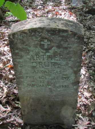 DRURY (VETERAN), ARTHER - St. Francis County, Arkansas | ARTHER DRURY (VETERAN) - Arkansas Gravestone Photos