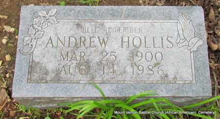 HOLLIS, ANDREW - St. Francis County, Arkansas   ANDREW HOLLIS - Arkansas Gravestone Photos