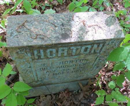 HORTON, E L - St. Francis County, Arkansas | E L HORTON - Arkansas Gravestone Photos