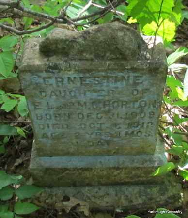HORTON, ERNESTINE - St. Francis County, Arkansas | ERNESTINE HORTON - Arkansas Gravestone Photos