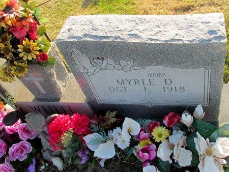 WHITE, MYRTLE D. - St. Francis County, Arkansas | MYRTLE D. WHITE - Arkansas Gravestone Photos