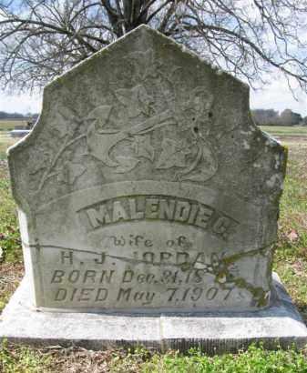 JORDAN, MALENDIE C - St. Francis County, Arkansas | MALENDIE C JORDAN - Arkansas Gravestone Photos