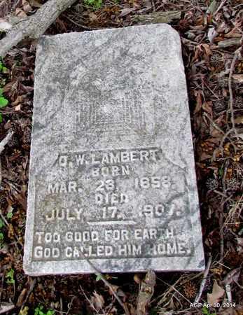 LAMBERT, O. W. - St. Francis County, Arkansas | O. W. LAMBERT - Arkansas Gravestone Photos