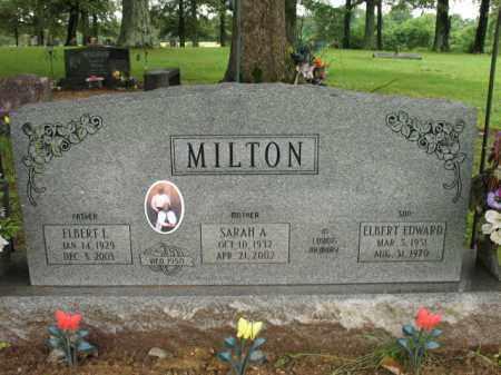 MILTON, SARAH A - St. Francis County, Arkansas | SARAH A MILTON - Arkansas Gravestone Photos