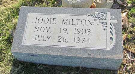 MILTON, JODIE - St. Francis County, Arkansas | JODIE MILTON - Arkansas Gravestone Photos