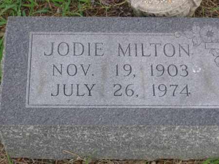 MILTON, JODIE - St. Francis County, Arkansas   JODIE MILTON - Arkansas Gravestone Photos