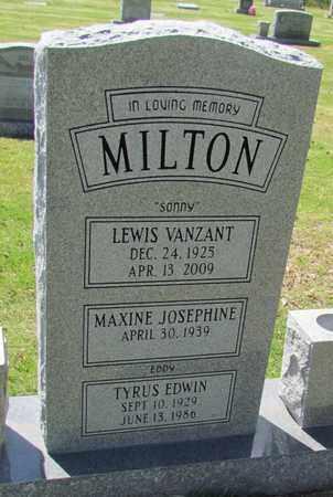 MILTON, TYRUS EDWIN - St. Francis County, Arkansas | TYRUS EDWIN MILTON - Arkansas Gravestone Photos