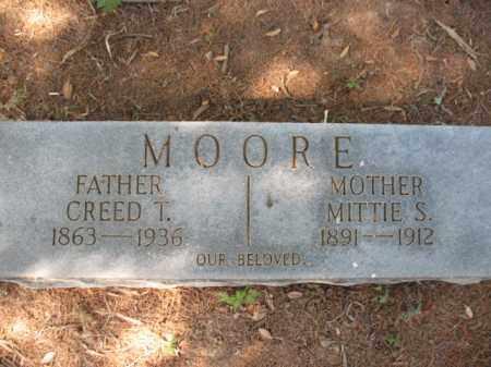 MOORE, CREED T - St. Francis County, Arkansas   CREED T MOORE - Arkansas Gravestone Photos