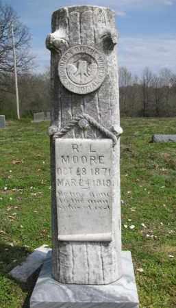 MOORE, R L - St. Francis County, Arkansas   R L MOORE - Arkansas Gravestone Photos