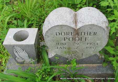 POOLE, DOREATHER - St. Francis County, Arkansas   DOREATHER POOLE - Arkansas Gravestone Photos
