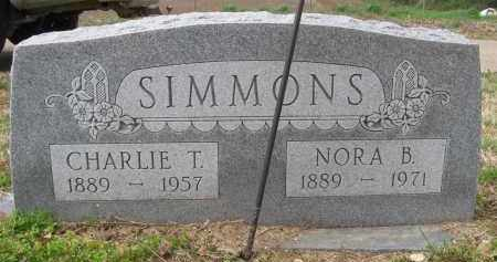 SIMMONS, CHARLIE T - St. Francis County, Arkansas | CHARLIE T SIMMONS - Arkansas Gravestone Photos