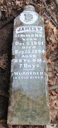 SIMMONS, JAMES T - St. Francis County, Arkansas | JAMES T SIMMONS - Arkansas Gravestone Photos