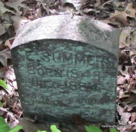 SUMMERS, L E - St. Francis County, Arkansas   L E SUMMERS - Arkansas Gravestone Photos