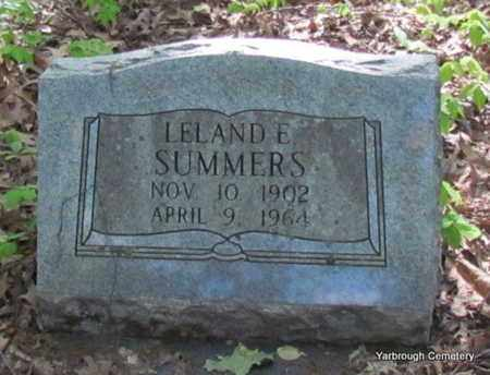 SUMMERS, LELAND E - St. Francis County, Arkansas | LELAND E SUMMERS - Arkansas Gravestone Photos